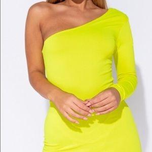 Dresses - One shoulder mini dress